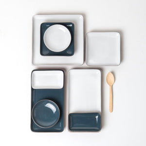 Sharing plate blue square