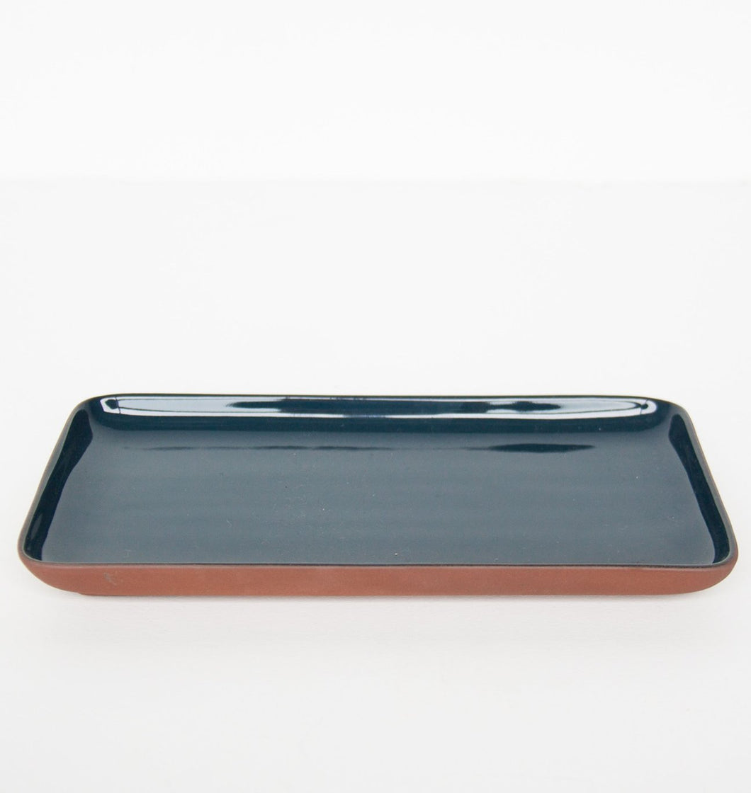 Sharing plate blue rectangular
