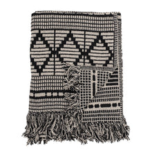 Afbeelding in Gallery-weergave laden, Throw black recycled cotton