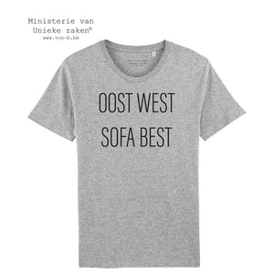 "T-shirt ""Oost West, sofa best"" (m)"