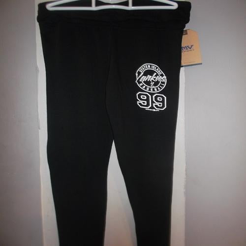 Staten Island Yankees MV Sport Ladies Black Yoga Pants