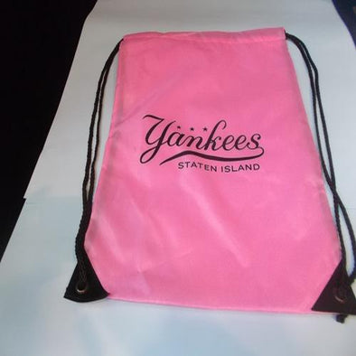 Staten Island Yankees Pink Drawstring Backpack Pink