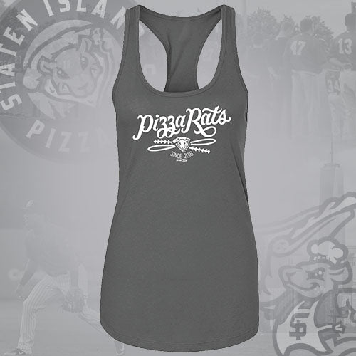 Staten Island Pizza Rats Bimm Ridder Grey Ladies Tank Top