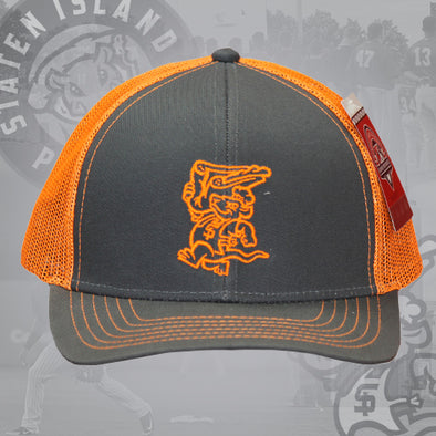 Staten Island Pizza Rats OC Sports Neon Orange Chef Snapback Cap