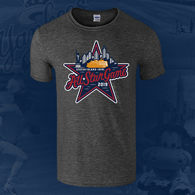 Staten Island Yankees Vantage Heather Grey 2019 All-Star Game Logo T-Shirt