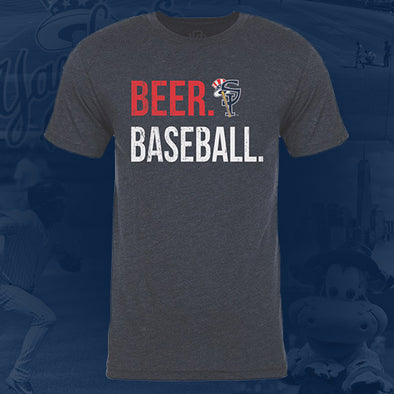 Staten Island Yankees 108 Stitches Heather Navy Beer. Baseball T-Shirt