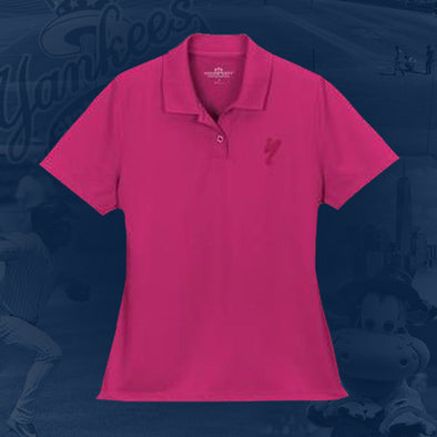 Staten Island Yankees Vantage Ladies Pink Solid Mesh Tech Polo