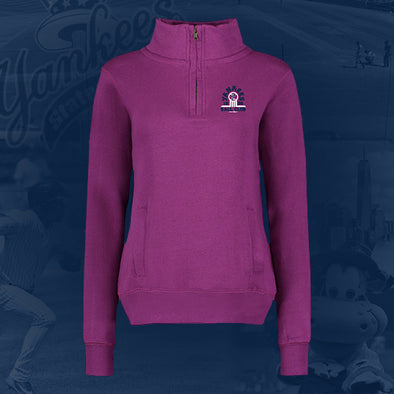 Staten Island Yankees MV Sport 1/4 Zip Purple Pullover