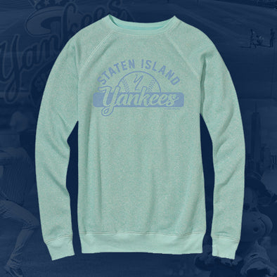 Staten Island Yankees MV Sport Ladies Teal Crew Neck Long Sleeve
