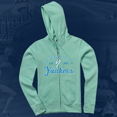 Staten Island Yankees MV Sport Teal Full Zip Hoodie