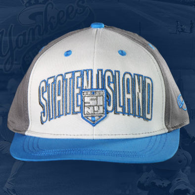 Staten Island Yankees Youth OC Flash White/Blue with SIY Logo Adjustable