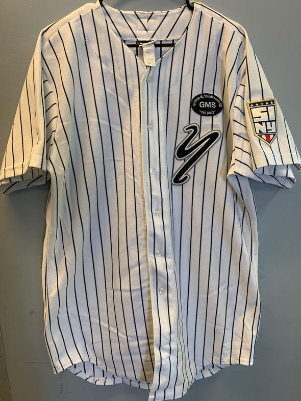 Staten Island Yankees Game Used Home Jersey #34 (Size 46) with George M. Steinbrenner Patch