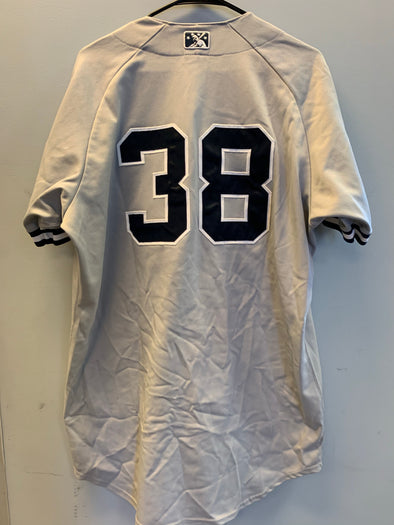 Staten Island Yankees Game Used Road Jersey #38 (Size 46) with George M. Steinbrenner Patch