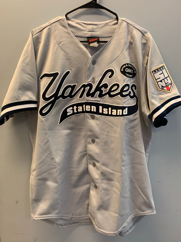 Staten Island Yankees Game Used Road Jersey #59 (Size 44) with George M. Steinbrenner Patch