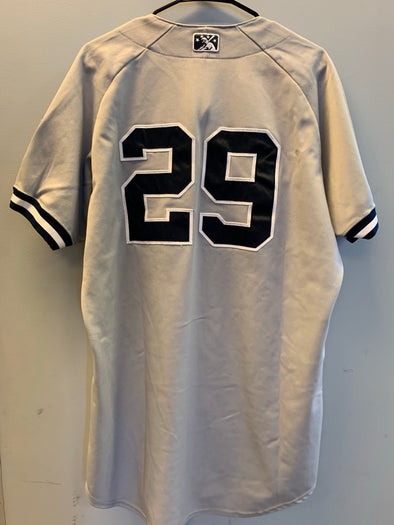 Staten Island Yankees Game Used Road Jersey #29 (Size 46) with George M. Steinbrenner Patch