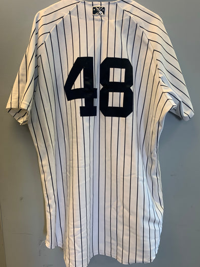 Staten Island Yankees Game Used Home Jersey #48 (Size 48) with George M. Steinbrenner Patch