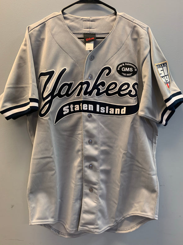 Staten Island Yankees Game Used Road Jersey #64 (Size 42) with George M. Steinbrenner Patch