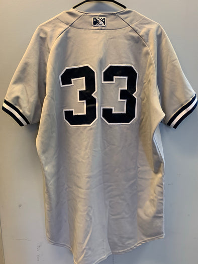 Staten Island Yankees Game Used Road Jersey #33 (Size 46) with George M. Steinbrenner Patch