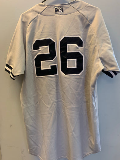 Staten Island Yankees Game Used Road Jersey #26 (Size 46) with George M. Steinbrenner Patch