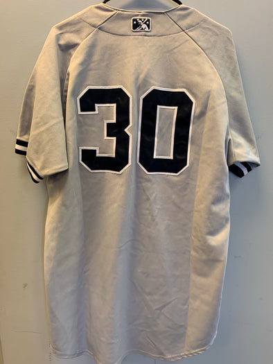 Staten Island Yankees Game Used Road Jersey #30 (Size 46) with George M. Steinbrenner Patch