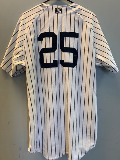Staten Island Yankees Game Used Home Jersey #25 (Size 46)