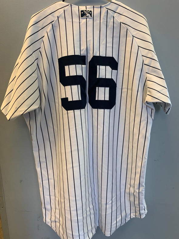 Staten Island Yankees Game Used Home Jersey #56 (Size 48) with George M. Steinbrenner Patch