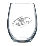Battle of the Blades Stemless Wine Glass