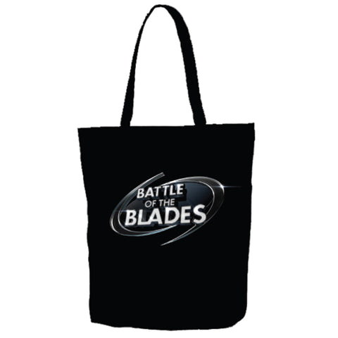 Battle of the Blades - Canvas Tote Bag - Black