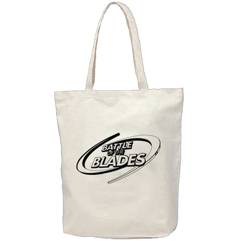 Battle of the Blades - Canvas Tote Bag - Natural