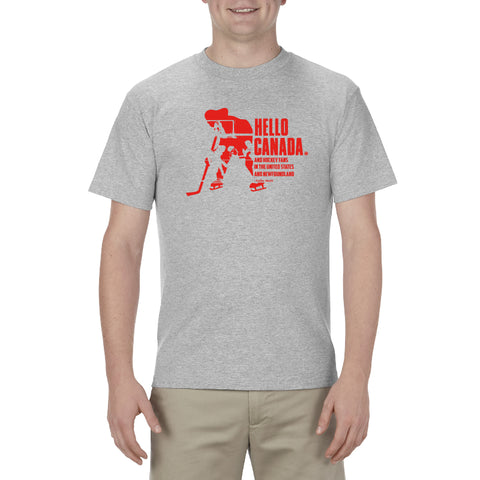 Hockey Night in Canada - Men's T-Shirt  - Hello Canada Heather Grey