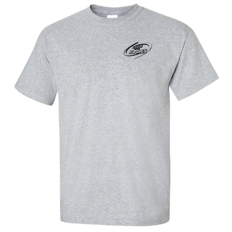 Battle of the Blades - Men's T-Shirt - Grey