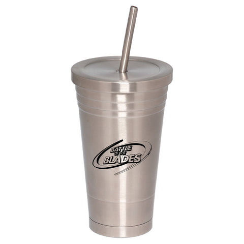 Battle of the Blades Stainless Steel Tumbler