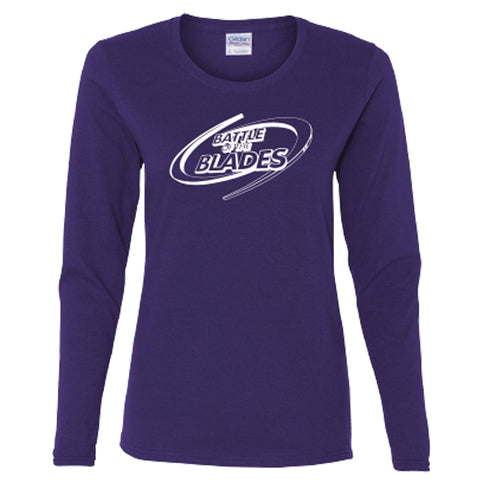 Battle of the Blades - Women's Long Sleeve - Wild Plum