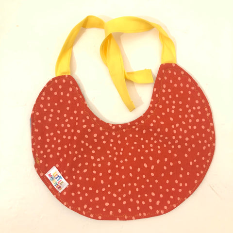 Unisex Bib - Orange Speckle / Denim