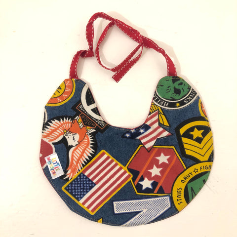 Unisex Bib - Harley - denim /red