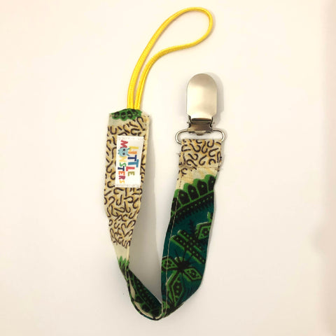 Unisex Dummy Clip (String) -Malawi Fabric / green neutral