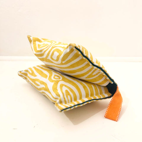 Diaper Purse - Yellow Zebra