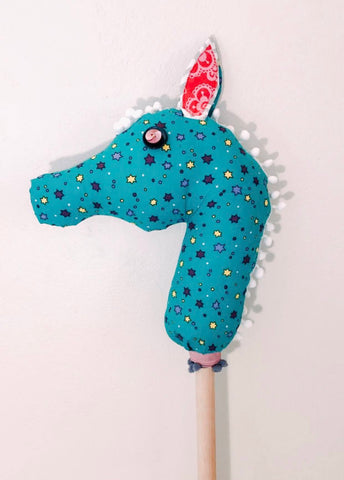 Stick Sea Horse - Green Stars