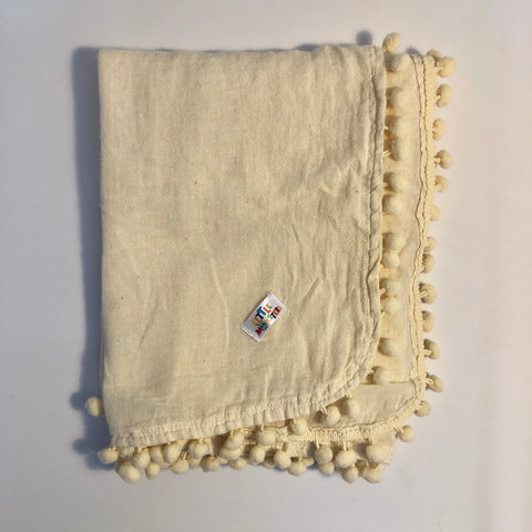 Cheese Cloth- pompom blanket