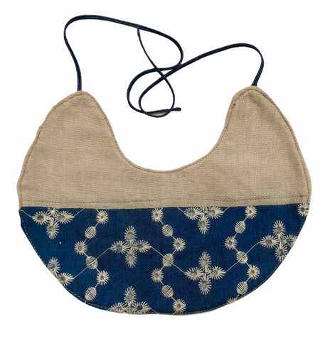 Fancy Bib - Denim Embroidery