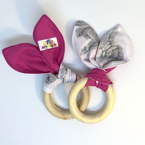 Teething Ring - Pink Rose