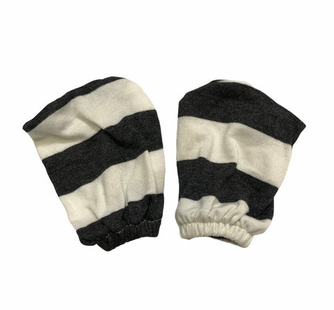 Baby Mittens : Charcoal Stripes