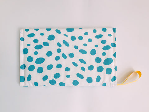 Diaper Purse - blue Dots