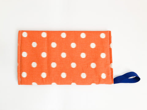 Diaper Purse - Orange Dot