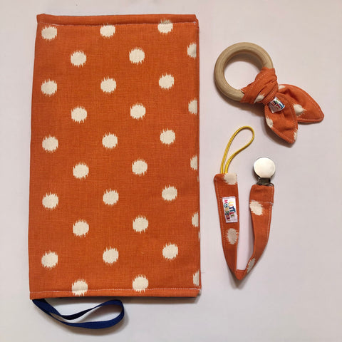 Diaper purse Combo 3 - Orange Dot