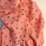 Light weight summer blankets - Pink leave