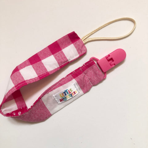 Pink Picnic , plastic clip- Dummy Clip (String) -