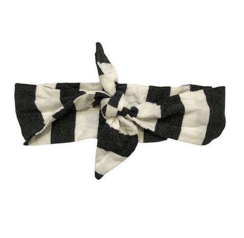 Knot Headbands - Charcoal Stripes