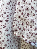 Light weight summer blankets - Paisley white