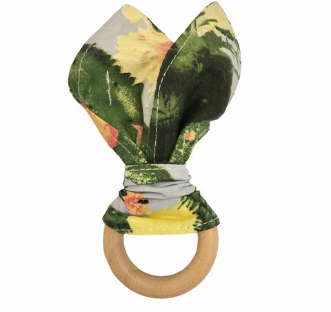 Wood Teething Ring - Cactus Green